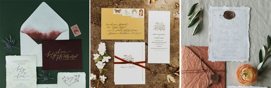 invitatii de nunta de toamna
